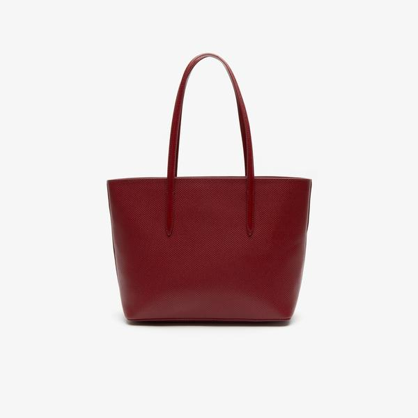 Lacoste Women's Chantaco Piqué Leather Zip Tote Bag