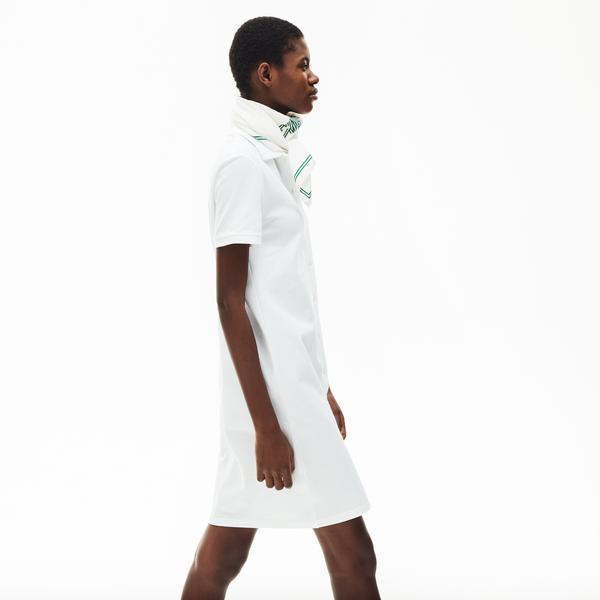 Lacoste Women's Cotton Piqué Buttoned Polo Dress