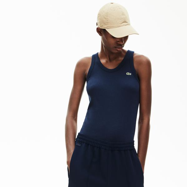 Lacoste Women's Soft Sleeveless Scoop Neck Top