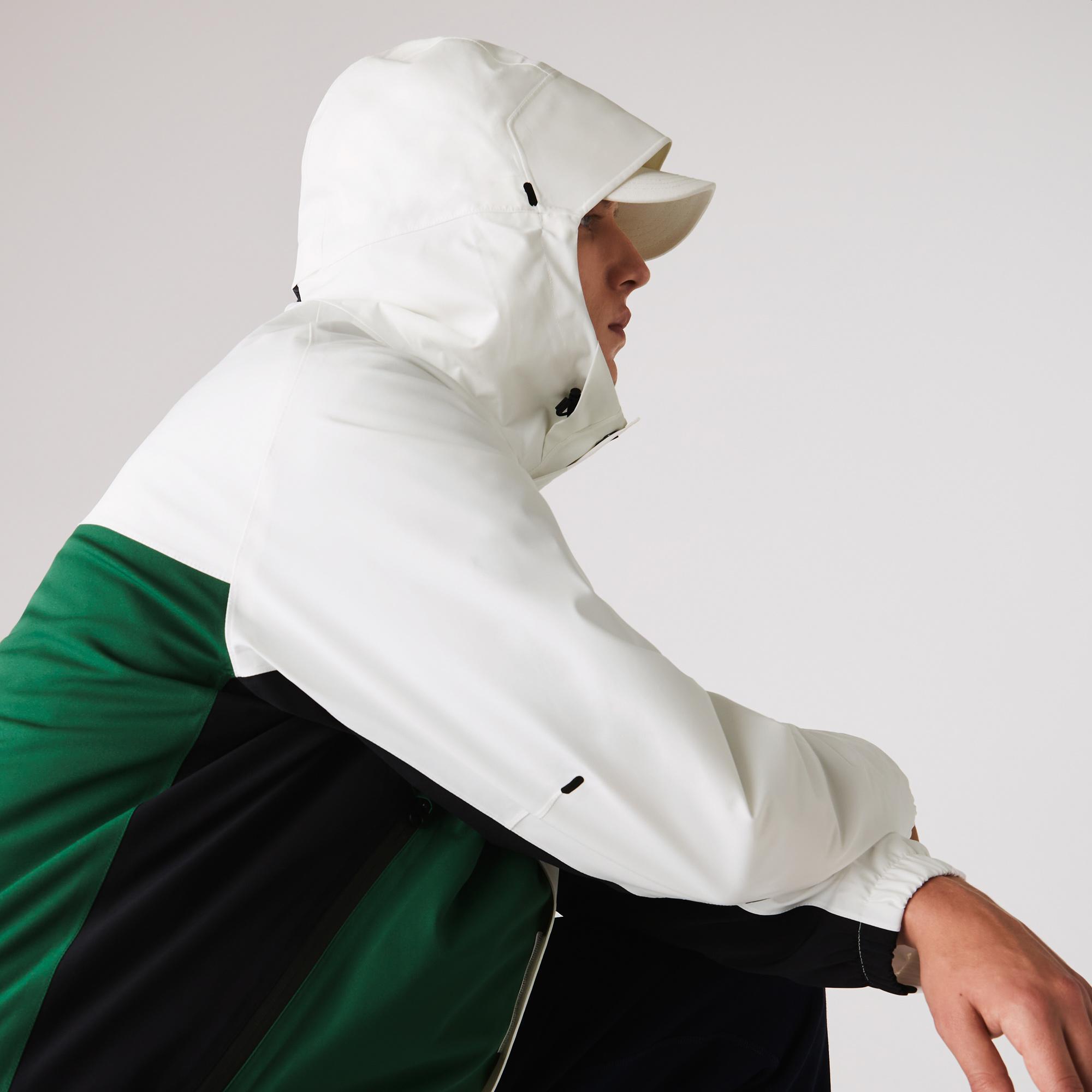 Lacoste Men's Lightweight Colorblock Hooded Water-Resistant Jacket