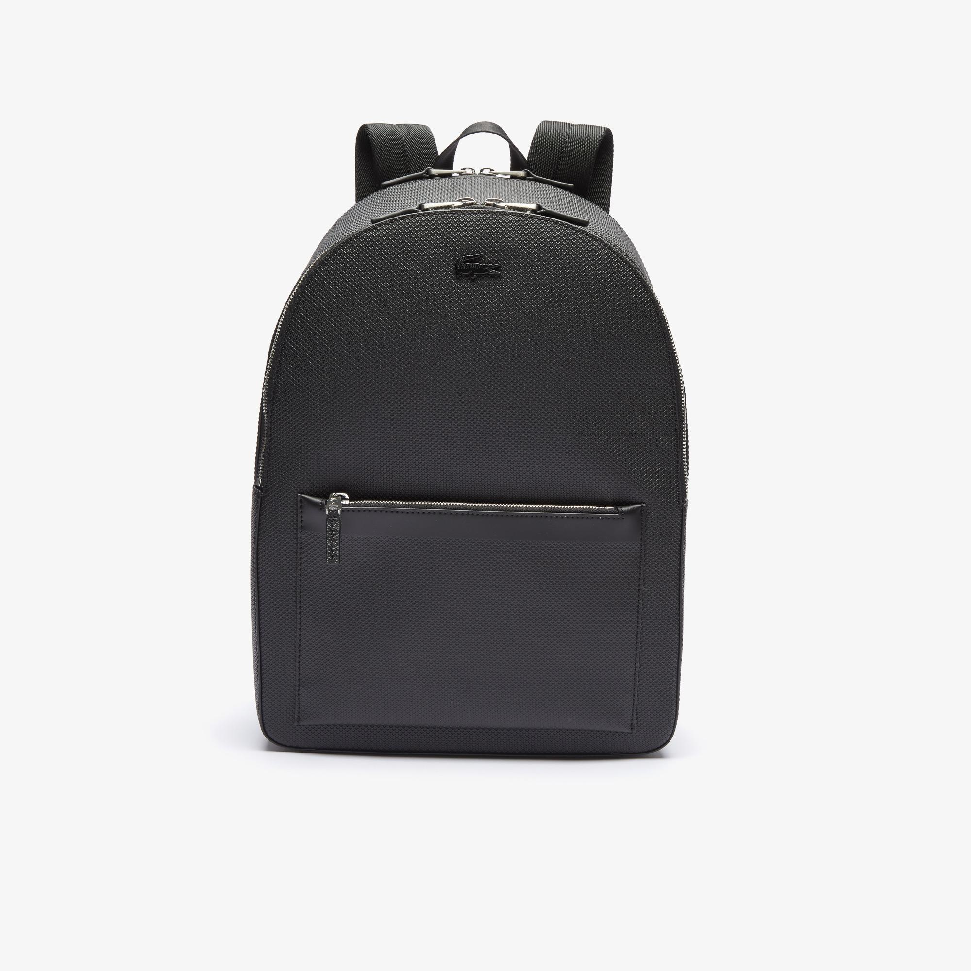 Lacoste Men's Chantaco Matte Stitched Leather Backpack