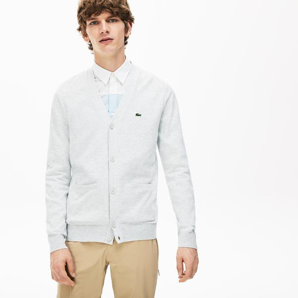 Lacoste Men's Pockets Buttoned Cotton Cardigan