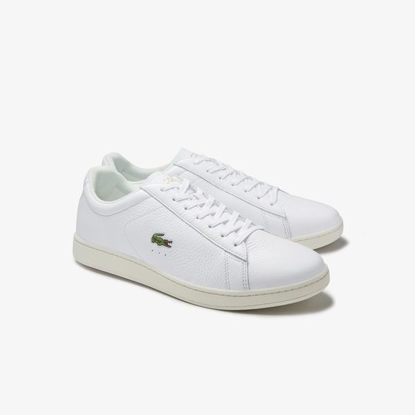 Lacoste Men's Carnaby Evo Tumbled Leather Sneakers