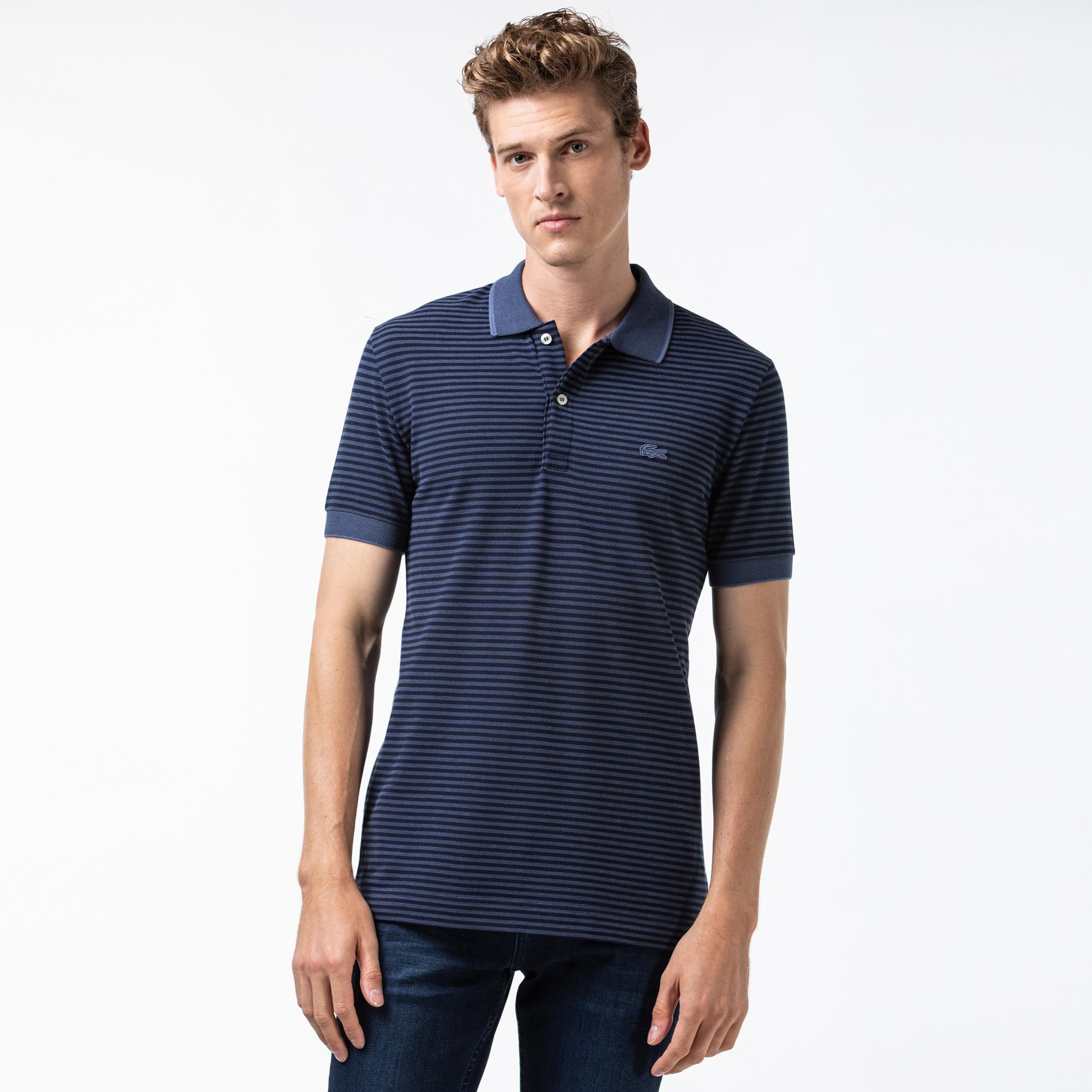 Lacoste Men's Regular Fit Striped Polo