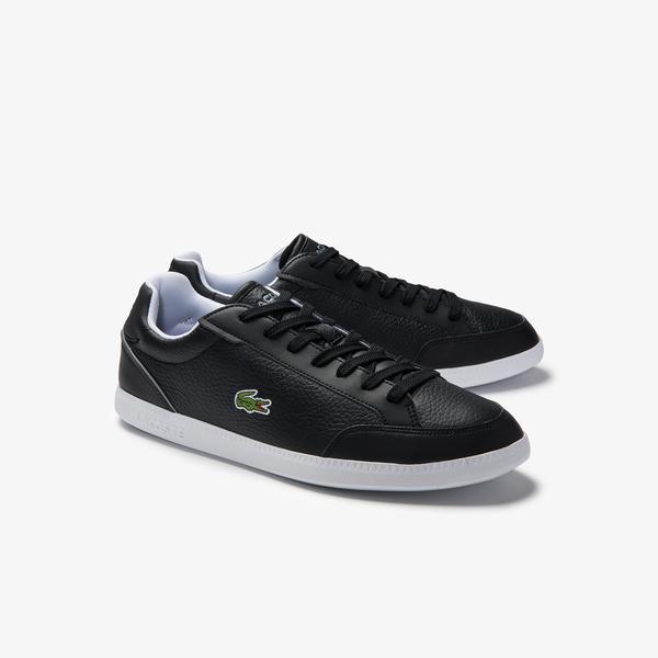 Lacoste Men's Graduate Cap Tumbled Leather Sneakers
