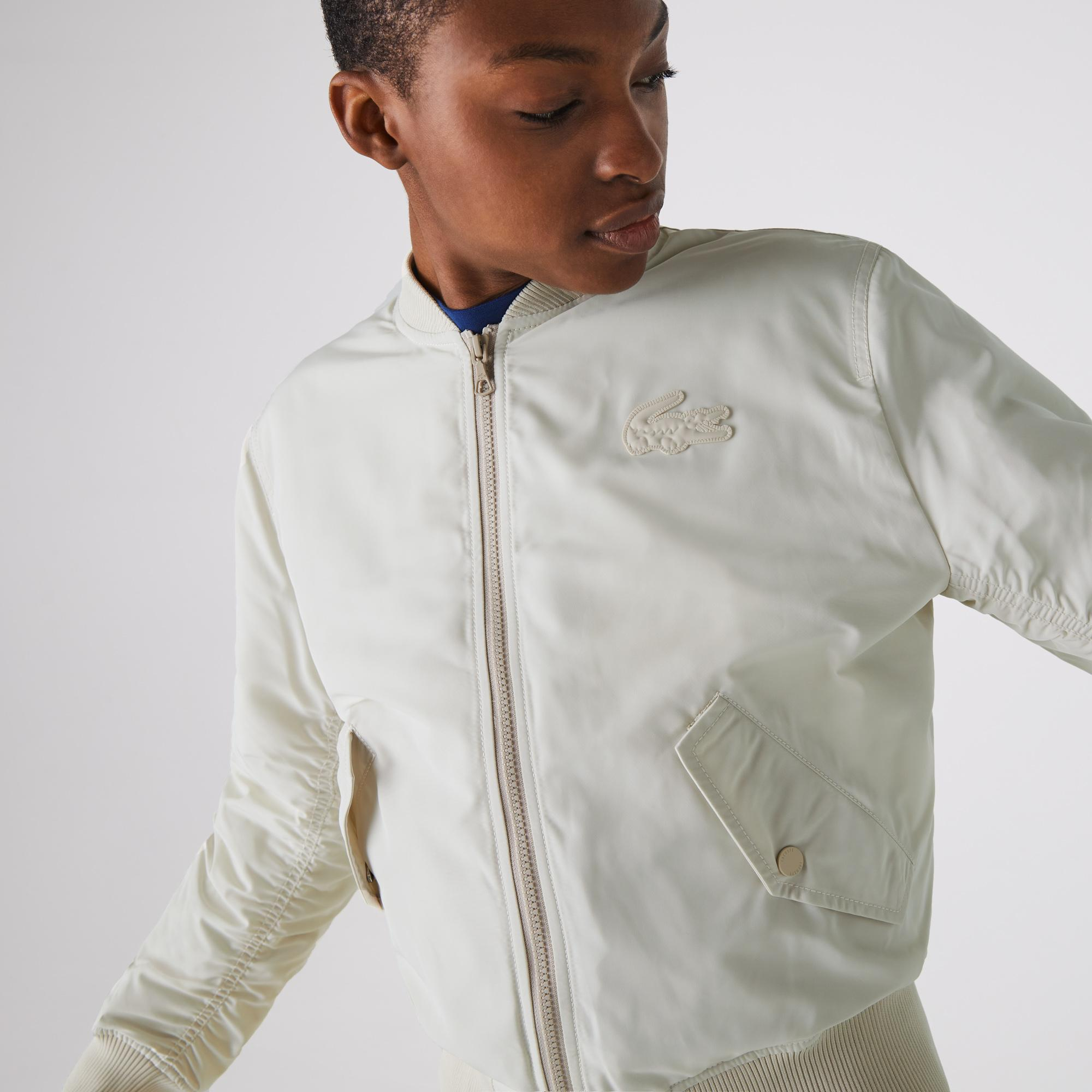 Lacoste Women's Zippered Quilted Water-Resistant Bomber Jacket