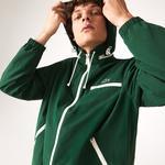 Lacoste Men's Lightweight Water-Resistant Hooded Windbreaker