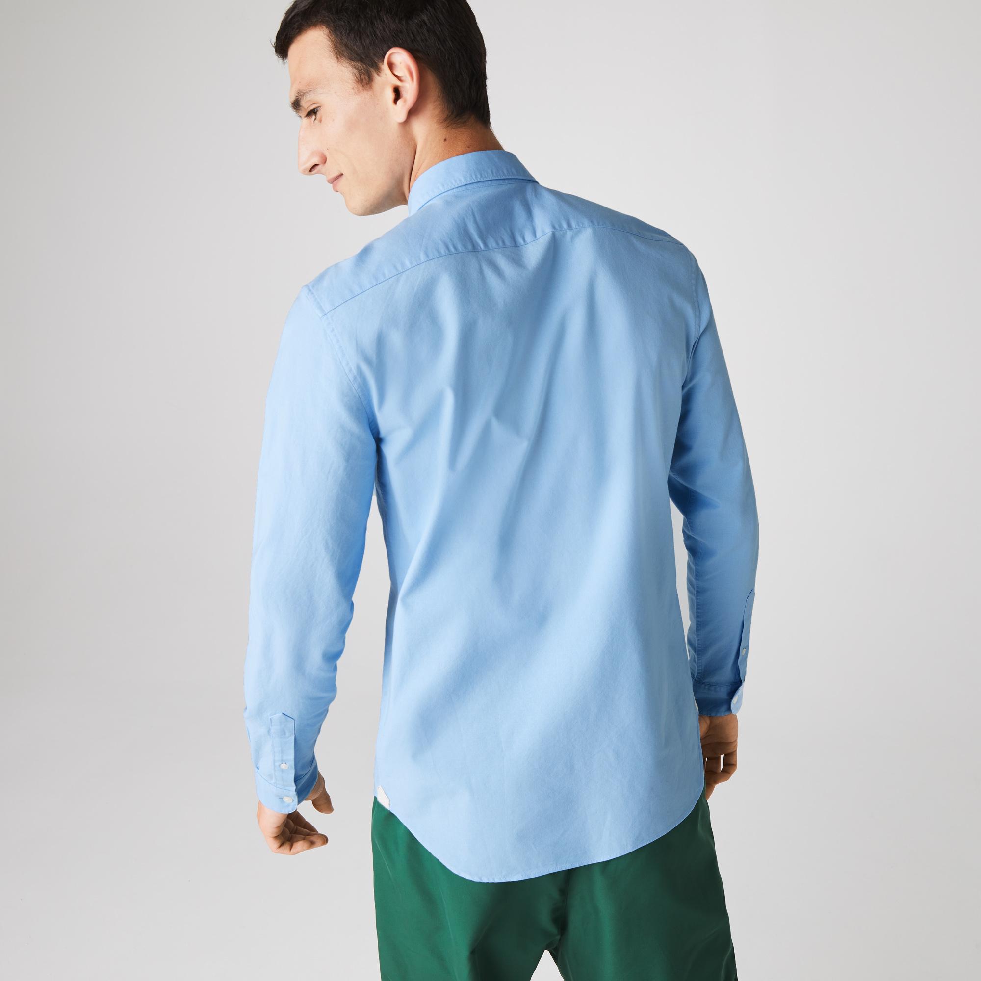 Lacoste Men's Slim Fit Stretch Oxford Cotton Shirt