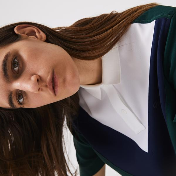 Lacoste Women's Colorblock Flowy And Lightweight Polo