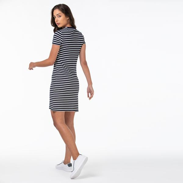 Lacoste Women's Round Neck Short Sleeve Dress