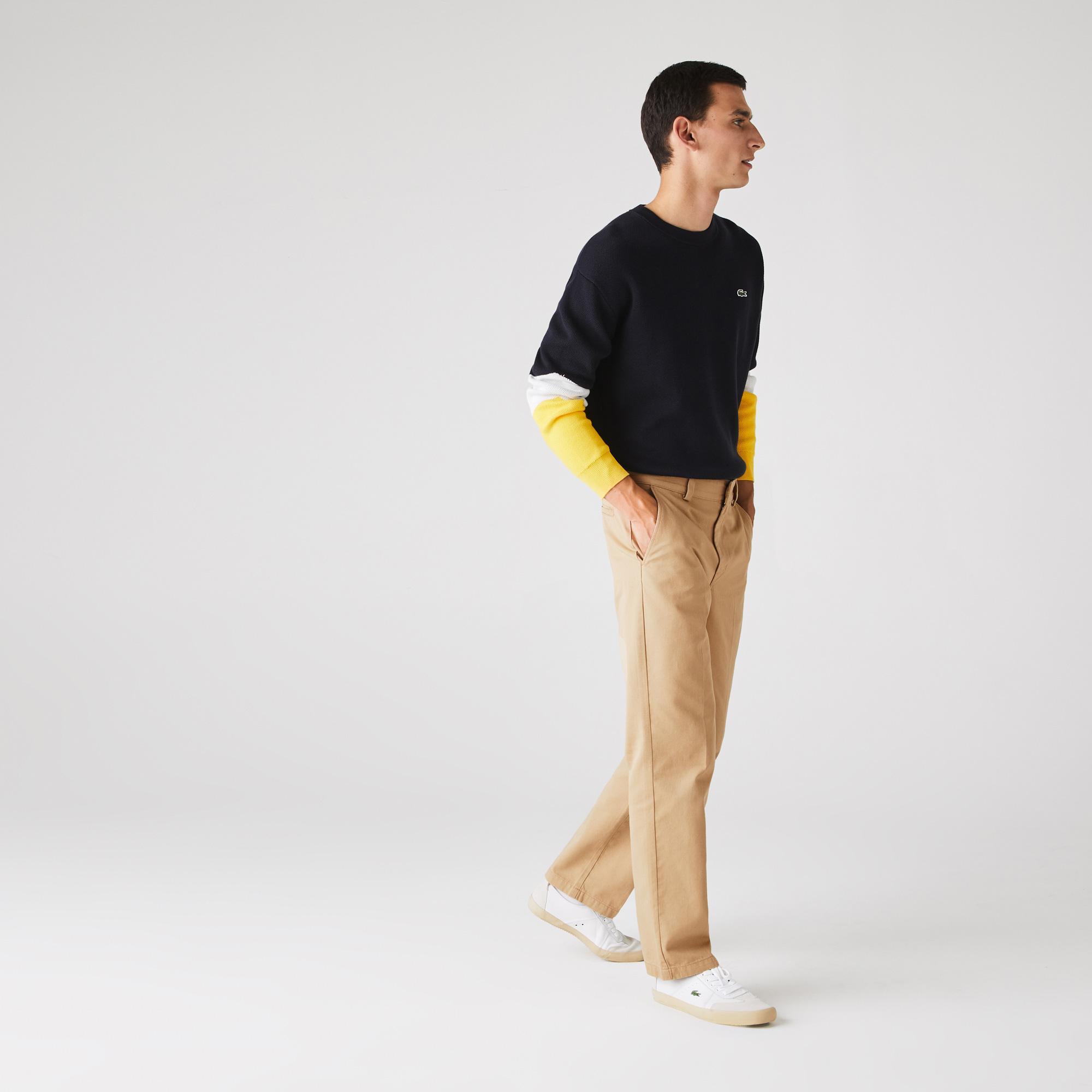 Lacoste Men's Lıve Standard Fit Pleated Cotton Chino Pants