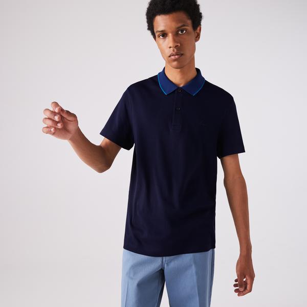 Lacoste Men's Regular Fit Contrast Collar Soft Cotton Polo