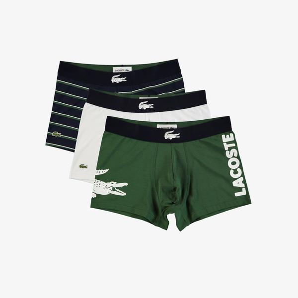Lacoste Men's Mismatched Stretch Cotton Trunk 3-Pack