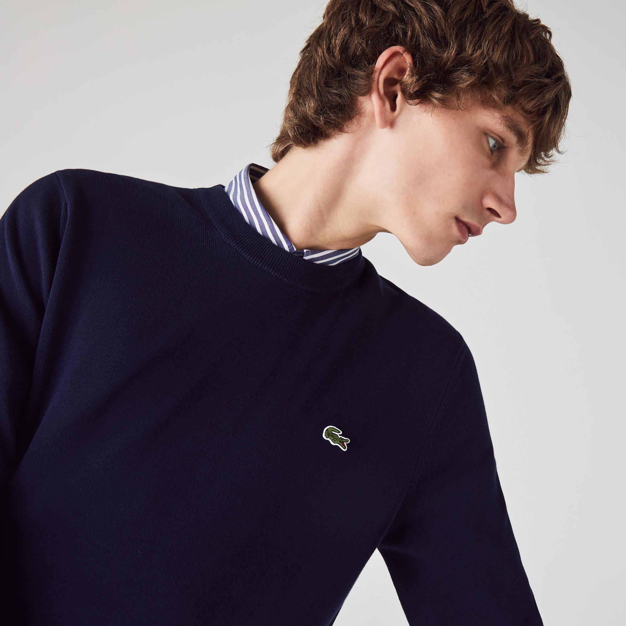 Lacoste Men's Organic Cotton Crew Neck Sweater