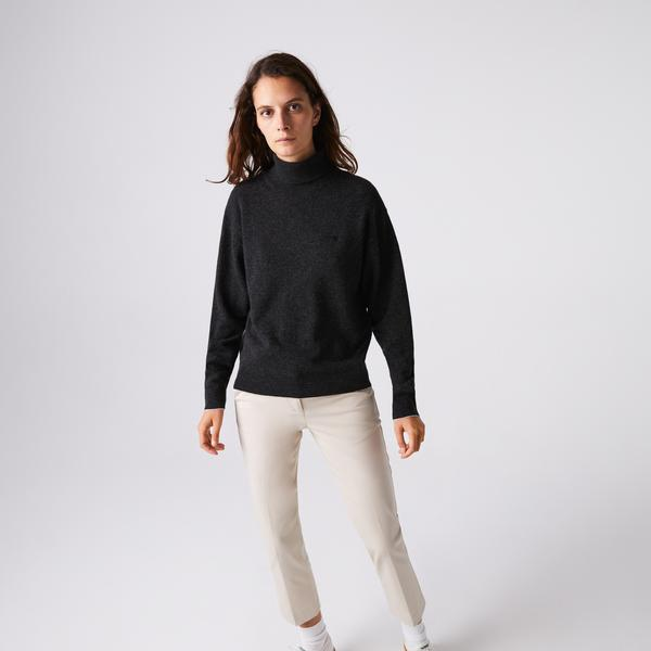 Lacoste Women's Turtleneck Wool Sweater