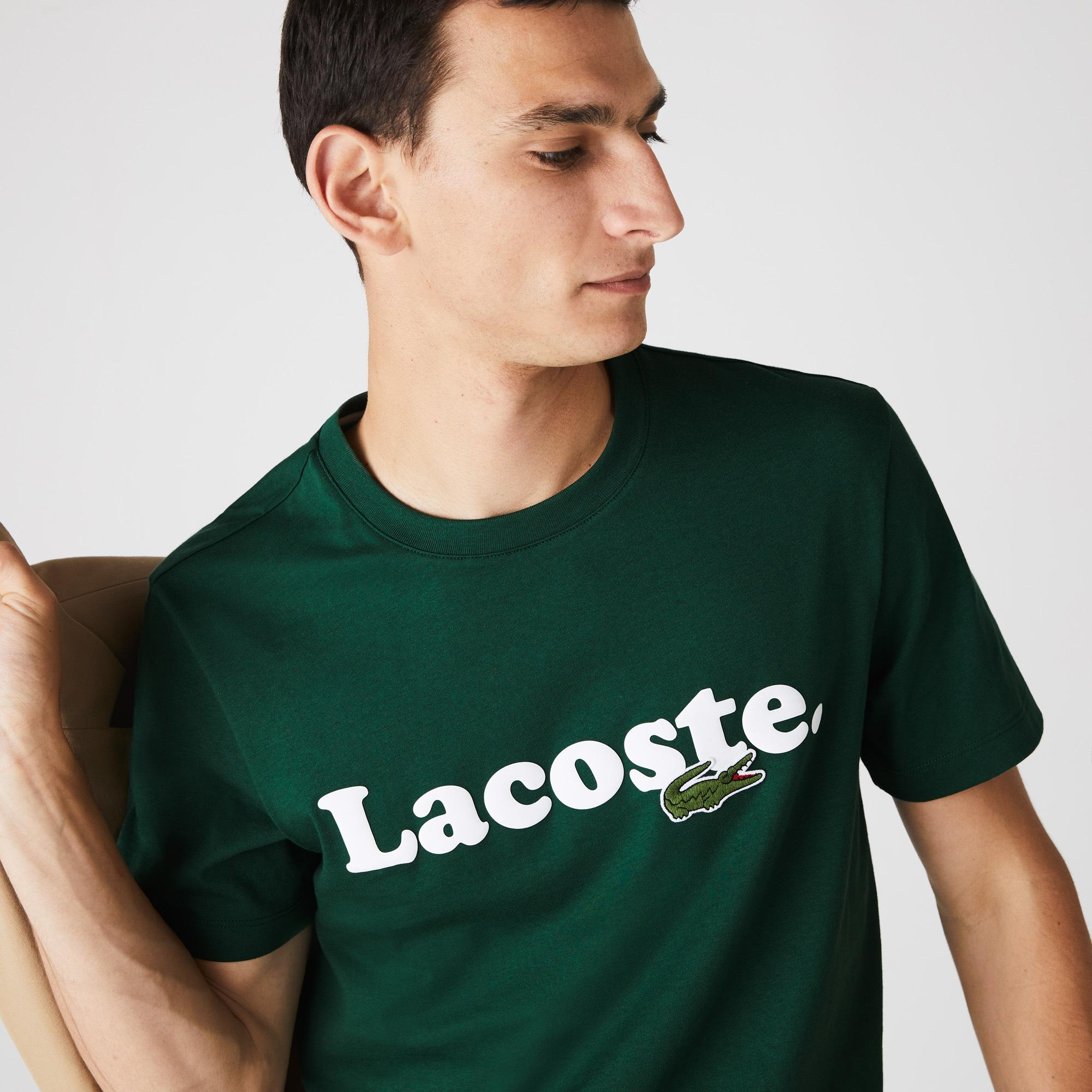 Lacoste Men's And Crocodile Branded Cotton T-shirt