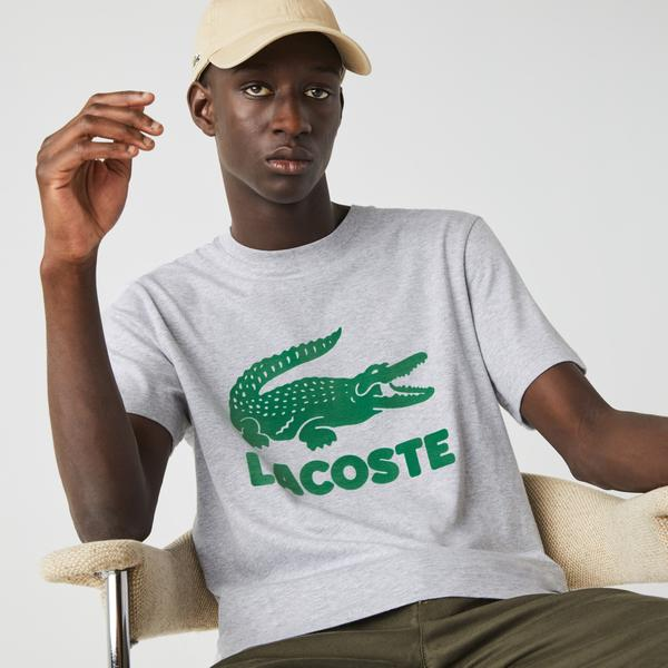 Lacoste Men's Printed Logo Cotton T-shirt