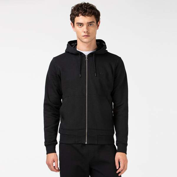 Lacoste Men's Black Hoodie Sweatshirt