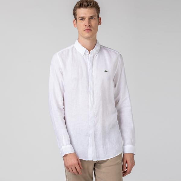 Lacoste Men's Regular Fit Button-Down Collar Shirt