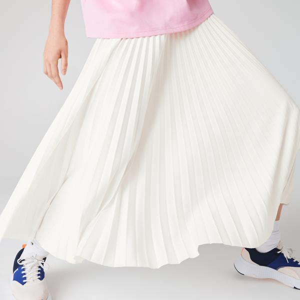 Lacoste Women's Branded Elasticised Pleated Skirt