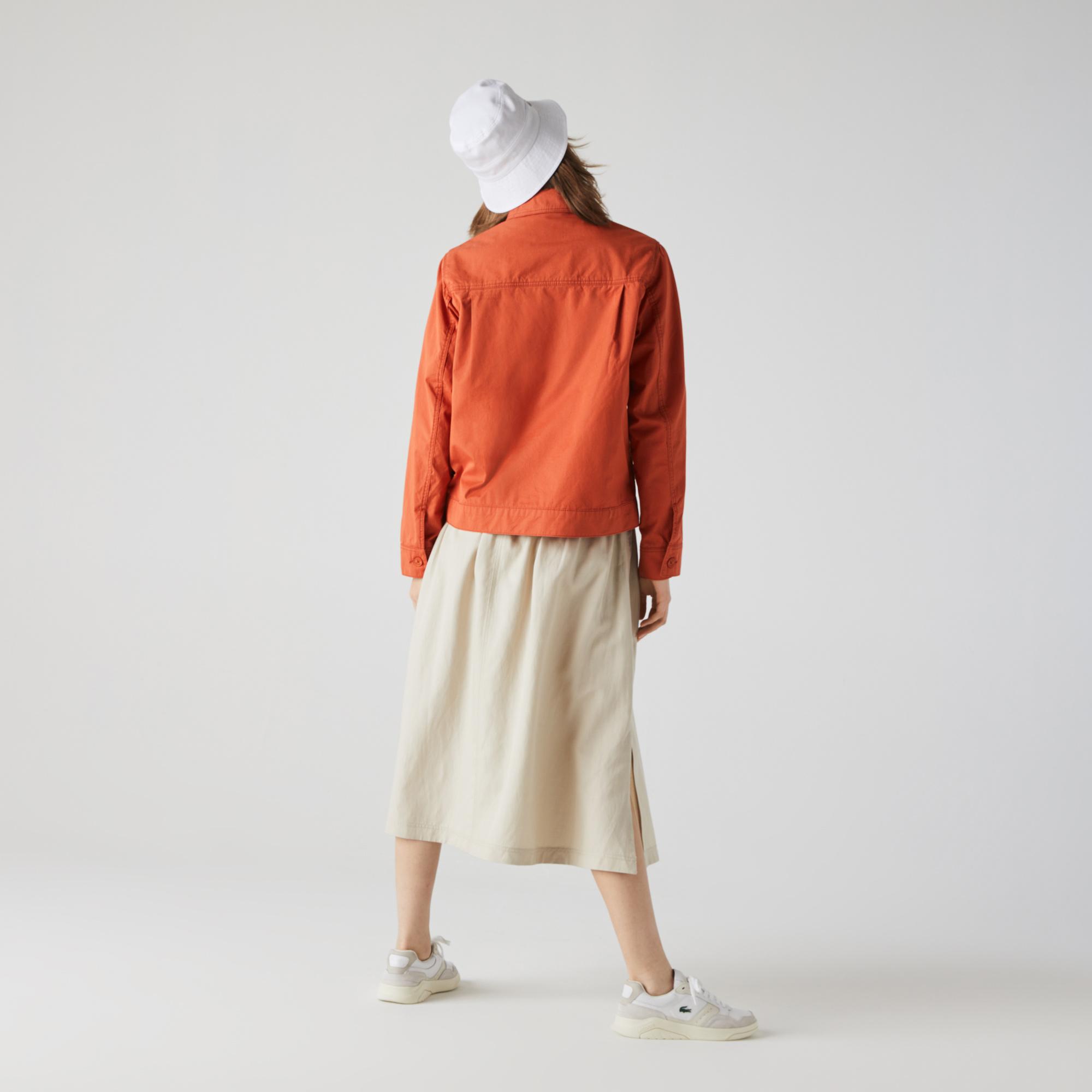 Lacoste Women's Light Cotton Fabric Jacket