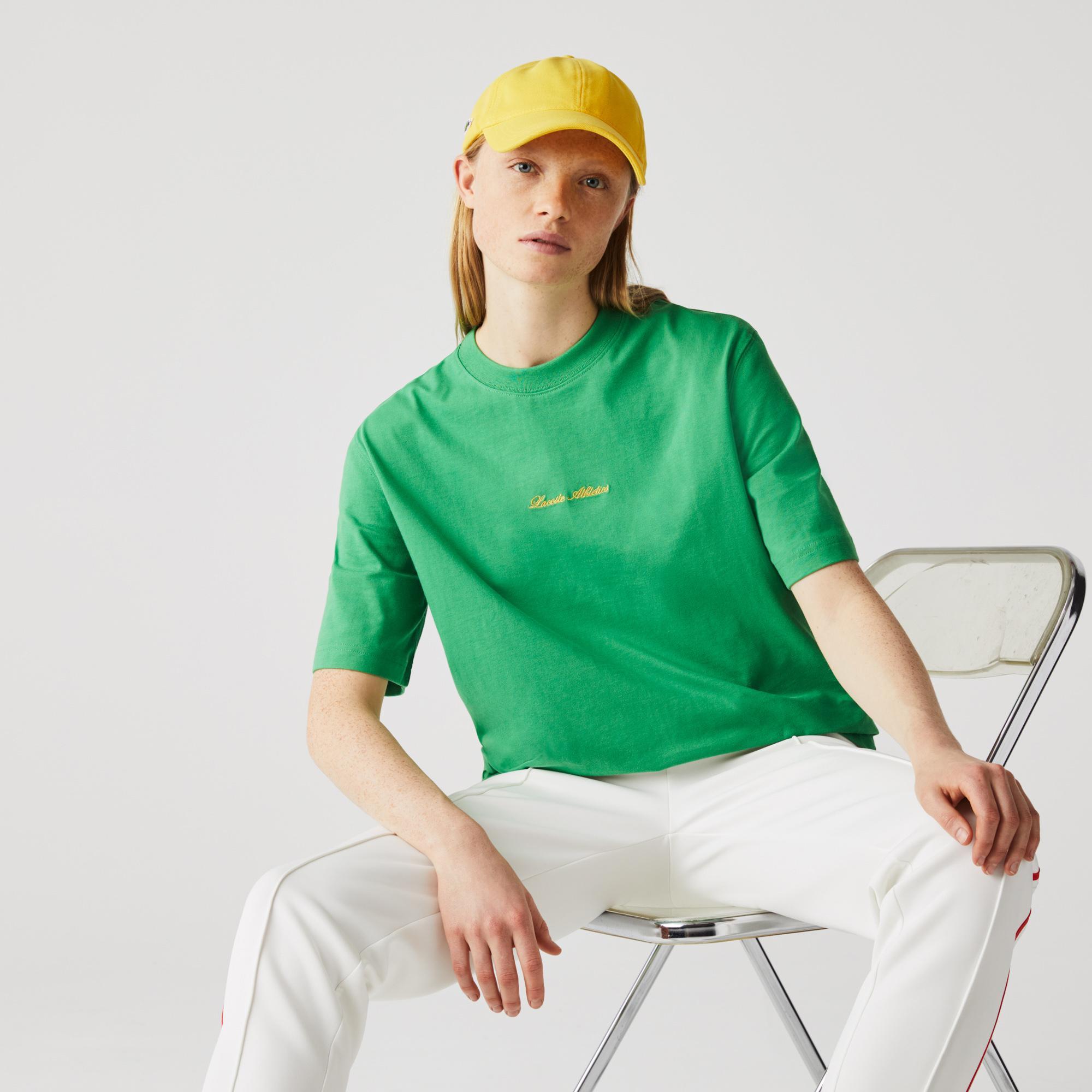 Lacoste Unisex LIVE Loose Fit Golden Embroidery Cotton T-shirt