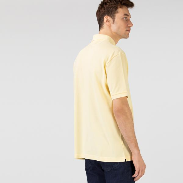 Lacoste L!VE Unisex Loose Fit Cotton Piqué Polo