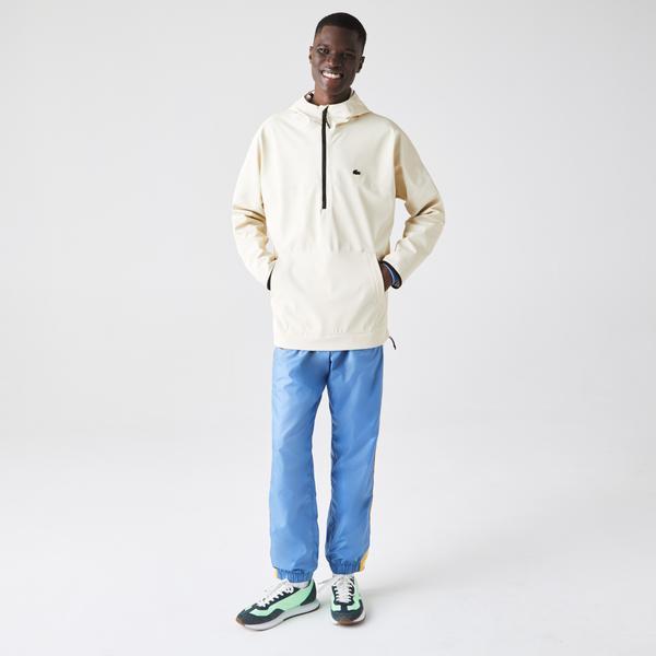 Lacoste Men's Hooded Lightweight Hybrid Pullover Jacket