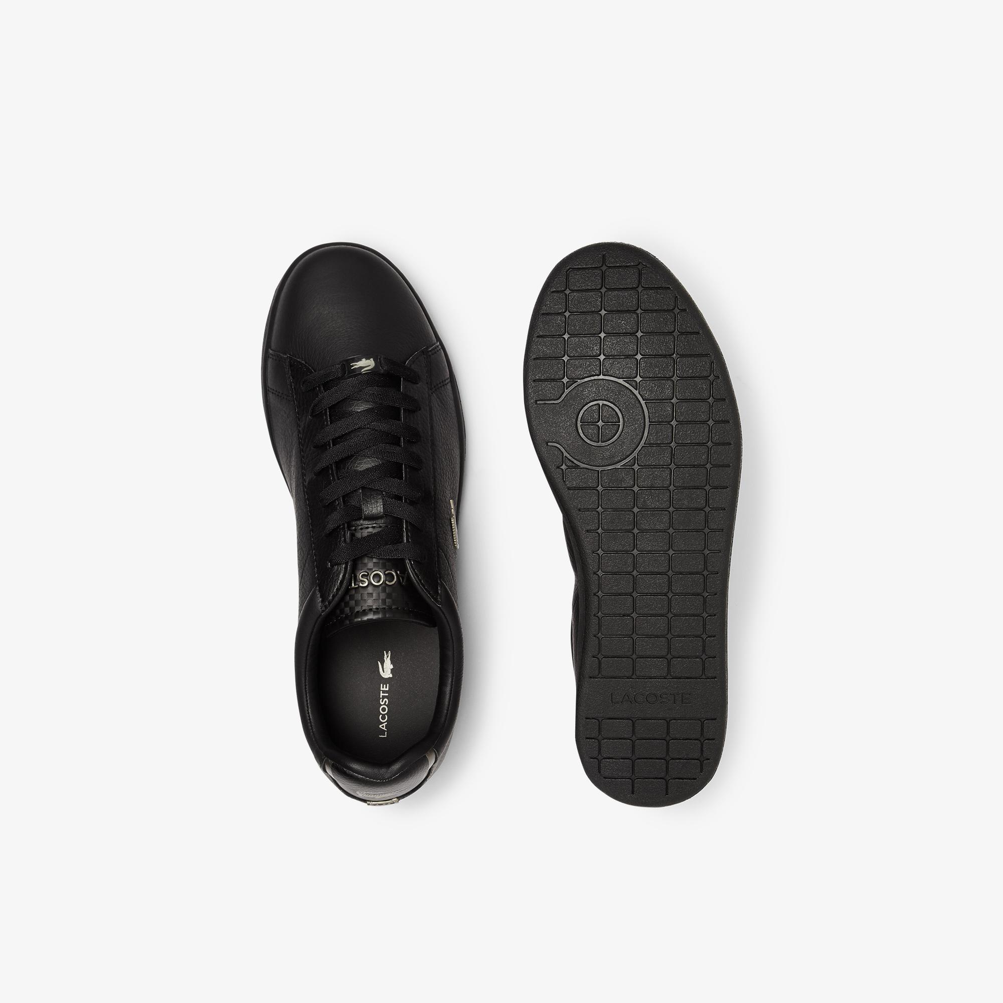 Lacoste Men's Carnaby Evo Leather Platinum Detailing Trainers