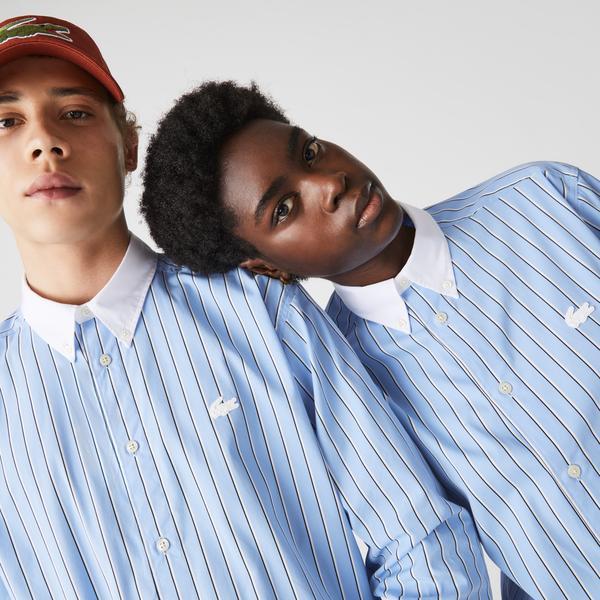 Lacoste LIVE Unisex Striped Cotton Shirt