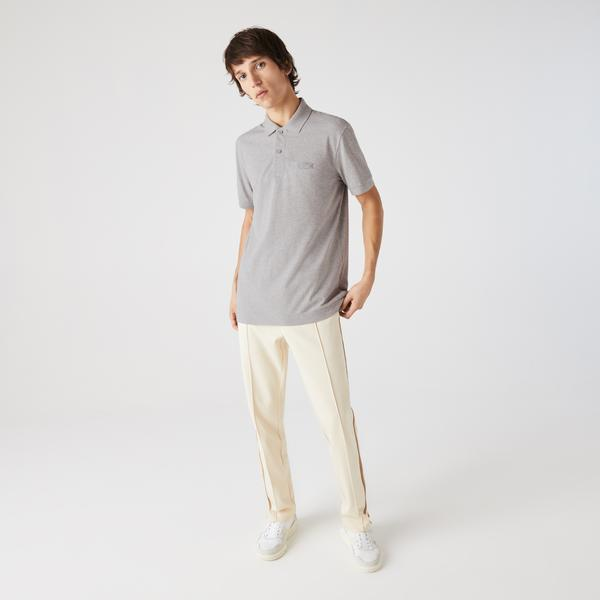 Lacoste Men's LOOP POLO Shirt Regular Fit Heathered Cotton Piqué