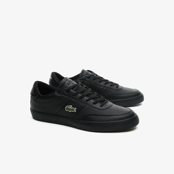 Lacoste Men's Court-Master Leather and Synthetic Perforated Trainers