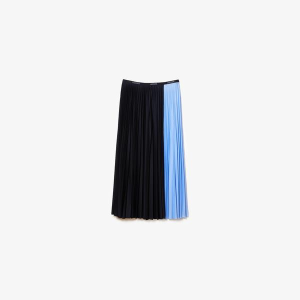 Lacoste Women's Mid-Length Colourblock Pleated Skirt