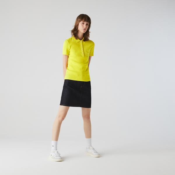 Lacoste Women's Slim Fit Ribbed Cotton Polo