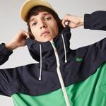 Lacoste Men's Hooded Bicolour Water-Resistant Zip Windbreaker