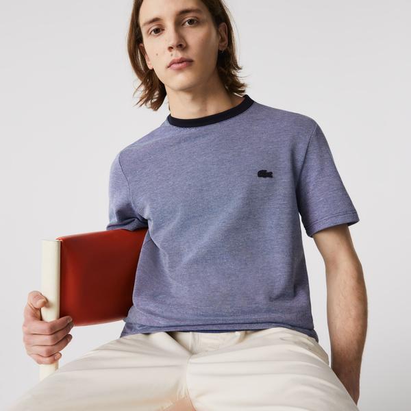 Lacoste Men's Crew Neck Textured Cotton T-shirt