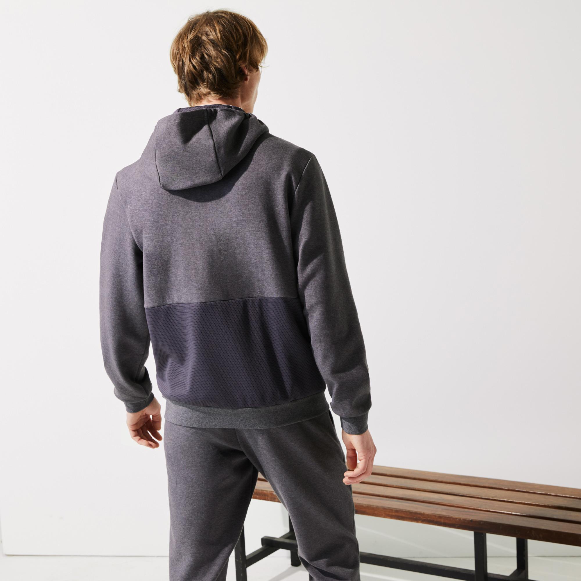 Lacoste Men?s Lacoste SPORT Hooded Mesh Panels Sweatshirt