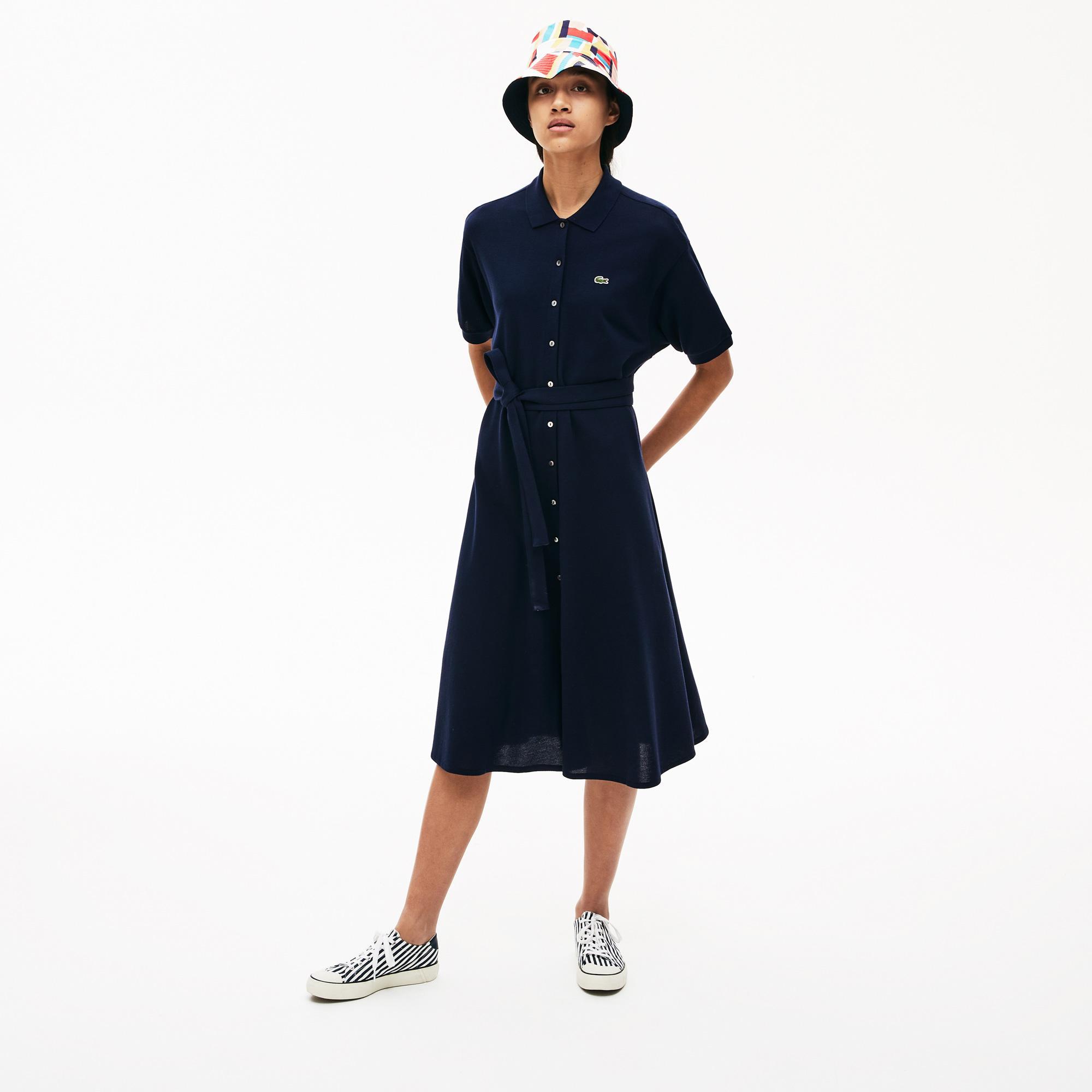 Lacoste Women's Cotton Piqué Belted Polo Dress