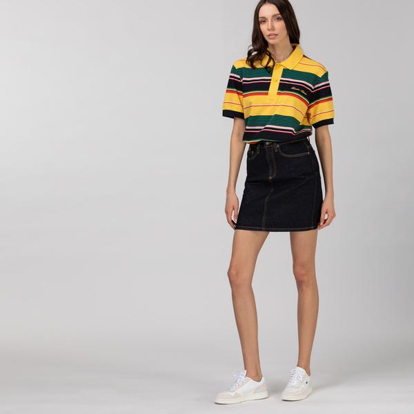 Lacoste L!VE Women's Dark Denim Mini-Skirt