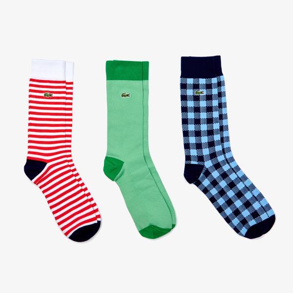 Lacoste Men's Cotton Blend Sock Three-Pack