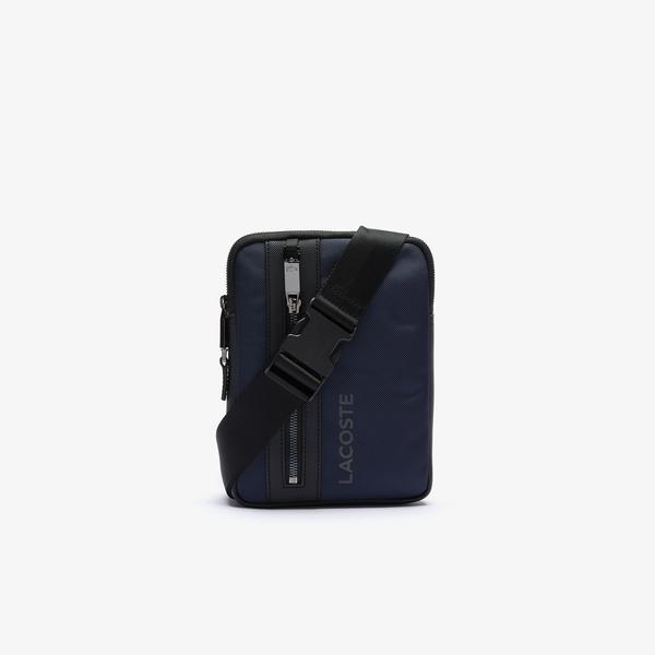 Lacoste Men's L On The Go Resistant Canvas Zip Crossbody Bag