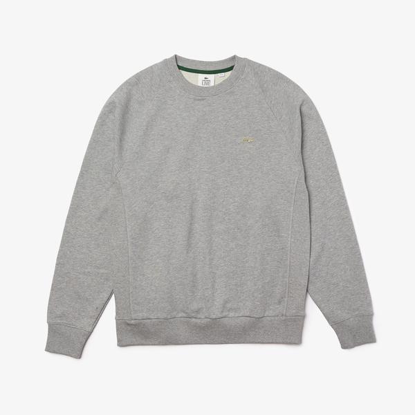 Lacoste Unisex Lacoste LIVE Loose Cotton Fleece Sweatshirt