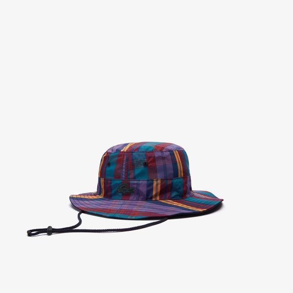 Lacoste Unisex LIVE Check Bucket Hat