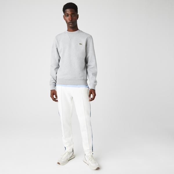 Lacoste Unisex Crew Neck Organic Cotton Fleece Sweatshirt