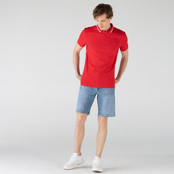 Lacoste Men's Slim Fit Cotton Denim Bermuda Shorts