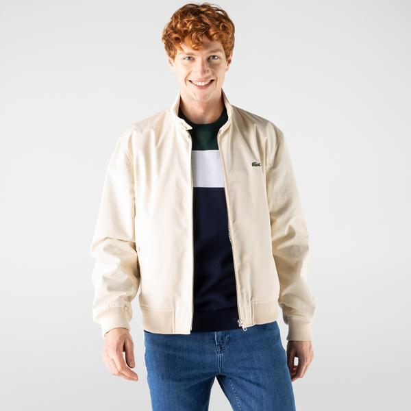 Lacoste Men's Water-Resistant Cotton Zip Jacket