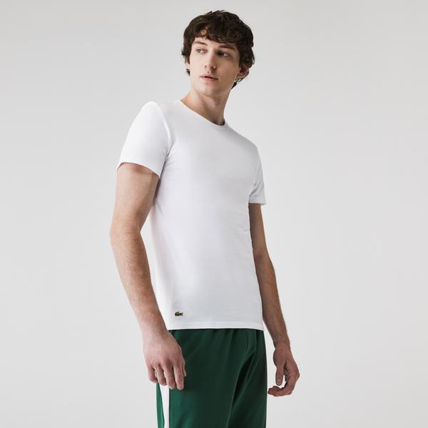 Lacoste Men's Crew Neck Cotton T-shirt Three-Pack