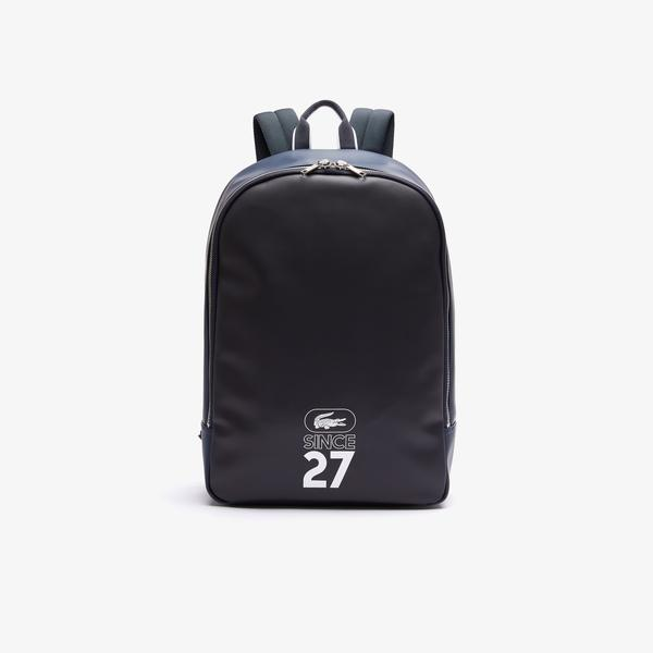 Lacoste Men's 1927 Coated Canvas Backpack