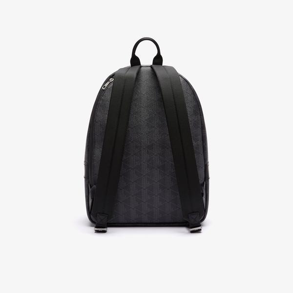 Lacoste Men's The Blend Monogram Canvas Backpack