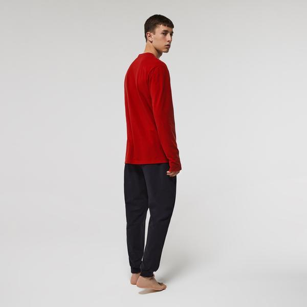 Lacoste Men's Long Stretch Cotton Pyjama Set